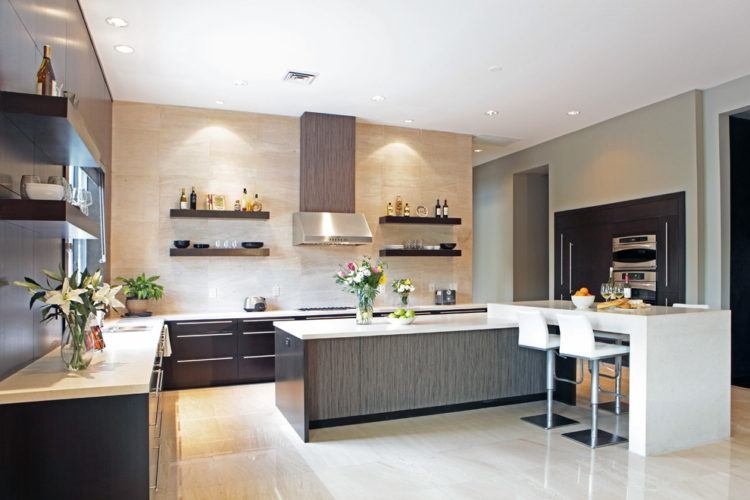 kitchen-floating-shelves-Kitchen-Contemporary-with-breakfast-bar-ceiling-lighting1-750x500